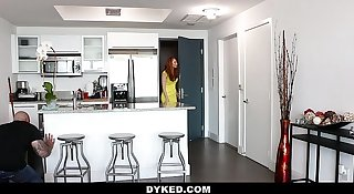 Dyked- Teen Tied up & Finger Fucked by Hot Milf