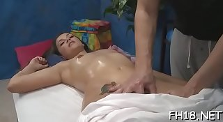 Playgirl gets dick in slit