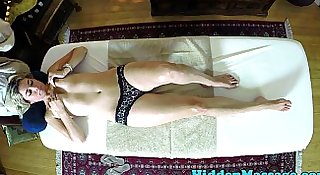 Lovely massage babe pussyfucked on the table