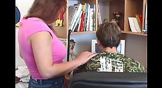 milfsonly.blogspot.com-Mature Chubby Mom With Young Boy