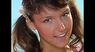 Busty brunette teen Jenny fuck dildo